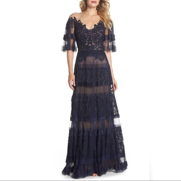 Nordstrom Dresses & Skirts - Tadashi Shoji Illusion V-Neck Lace Gown
